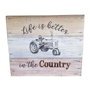 Wall Art - 🆕Life is Better in the Country Wood Wall Sign